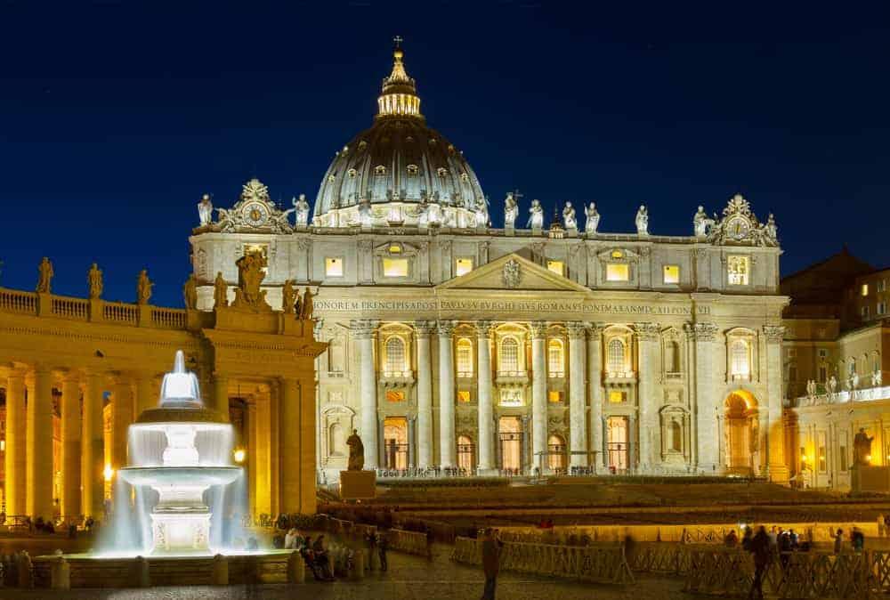 St. Peters Basilica Night